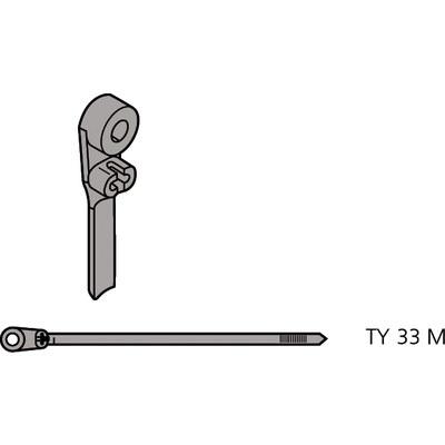 Ty-Rap® buntband med stålhuvud för skruvmontage