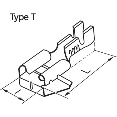 Panel connectors non-insulated