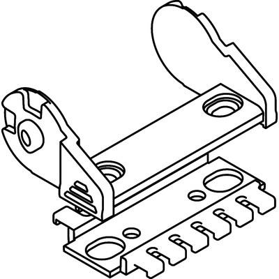 Ändfästen standard UNIFLEX 1455