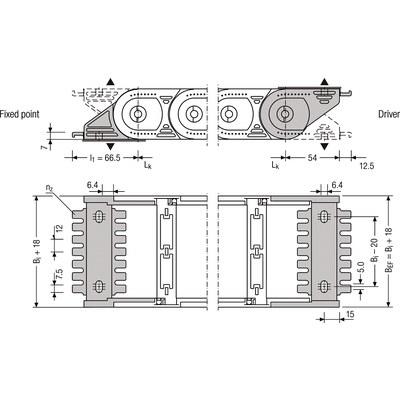 Ändfästen standard UNIFLEX 1555