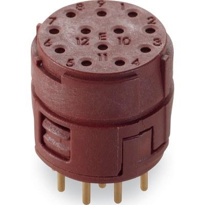 EPIC® M23 Insatser 12-poliga PCB-anslutning (löd)