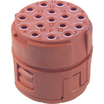 EPIC® SIGNAL M23 17-polig binnenwerk tbv Sub-D contacten (resolver toepassingen)