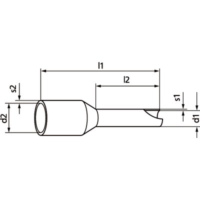 Conductor end sleeves AHK insulated