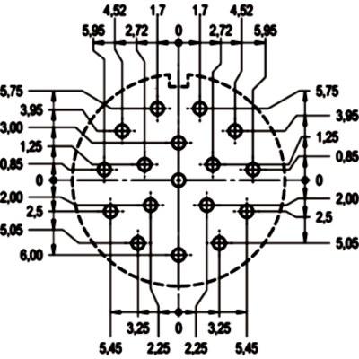 EPIC® SIGNAL M23 Inserts 17 pole PCB-soldering