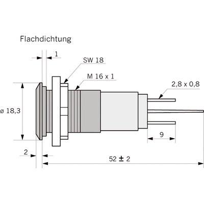 Panelindikator 1938, 10 mm/M16 EXTRA STARK